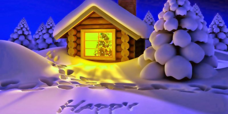 Christmas New Year Snow Background
