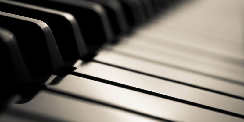 Piano Black And White Powerpoint Background