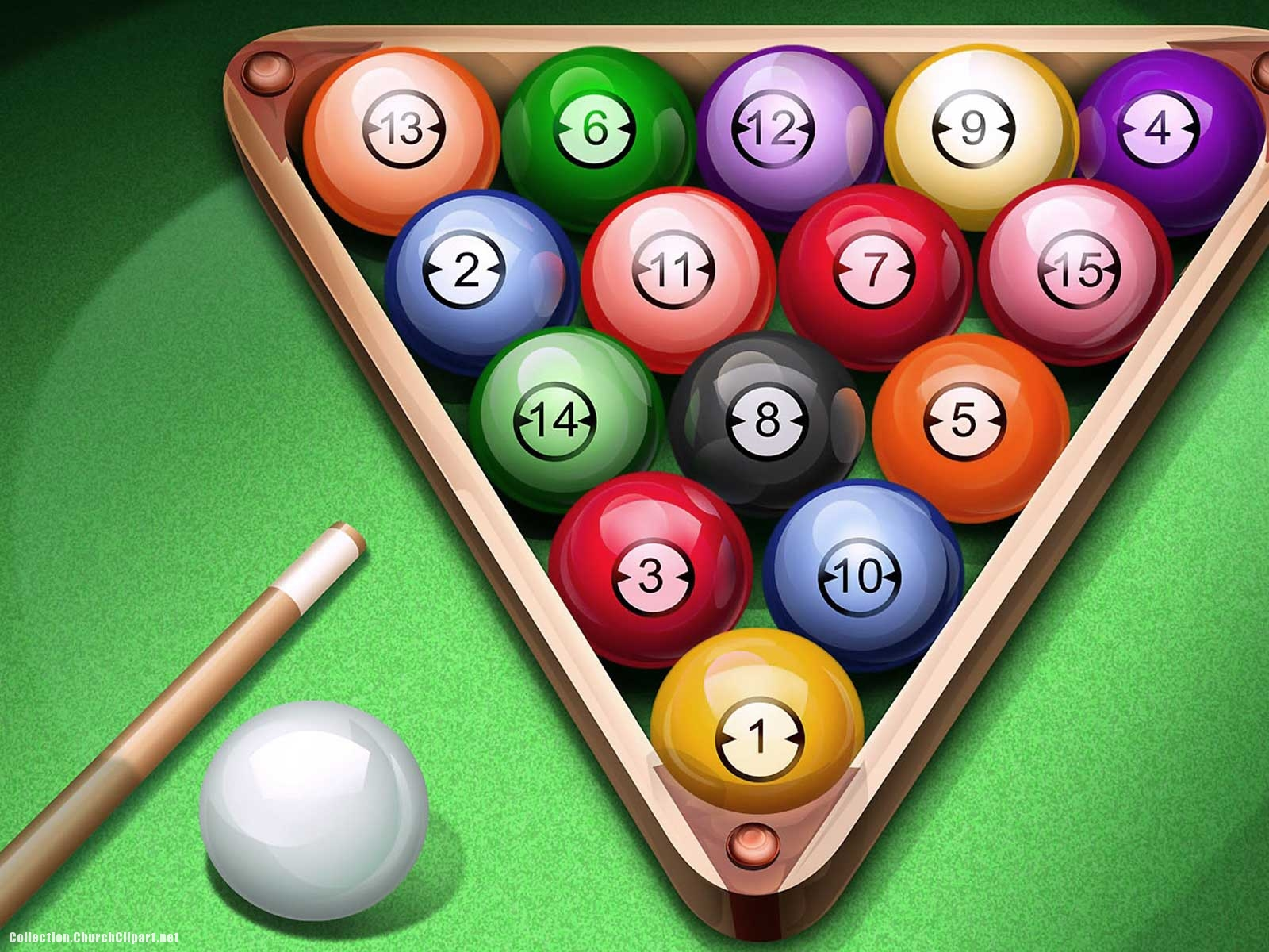 Pool Ball Background