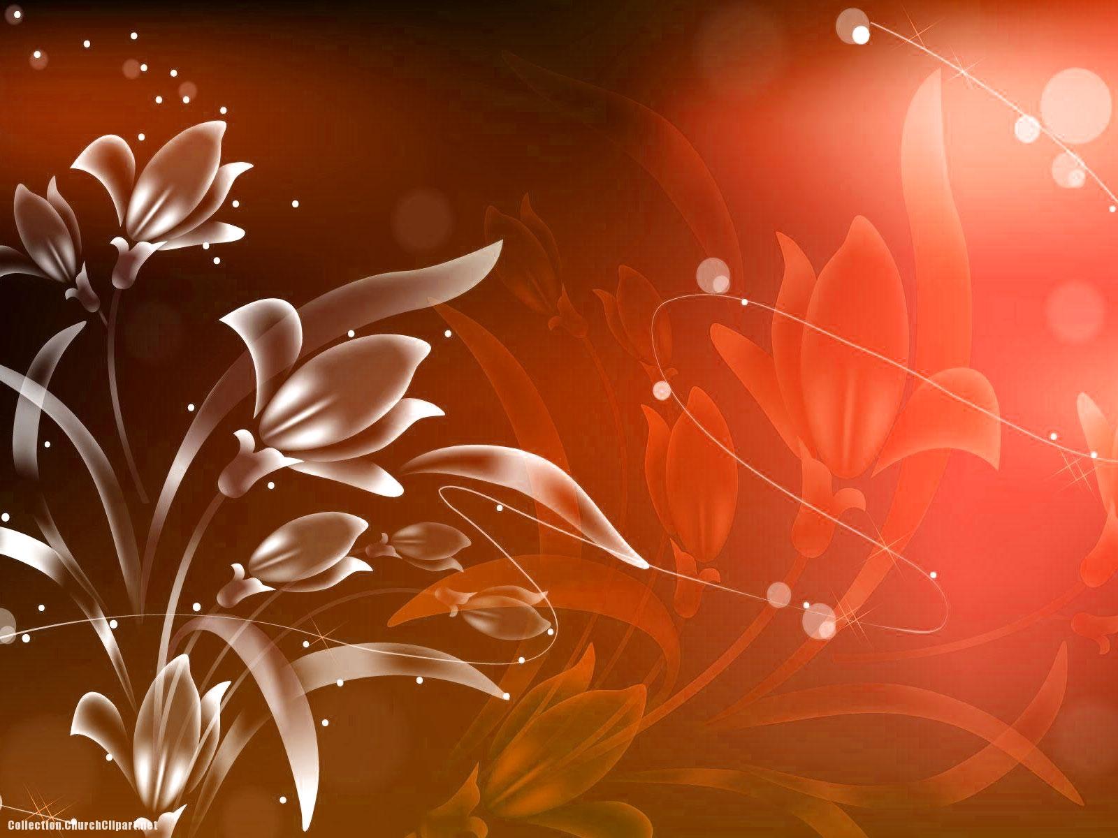 Red Flower Vintage Background