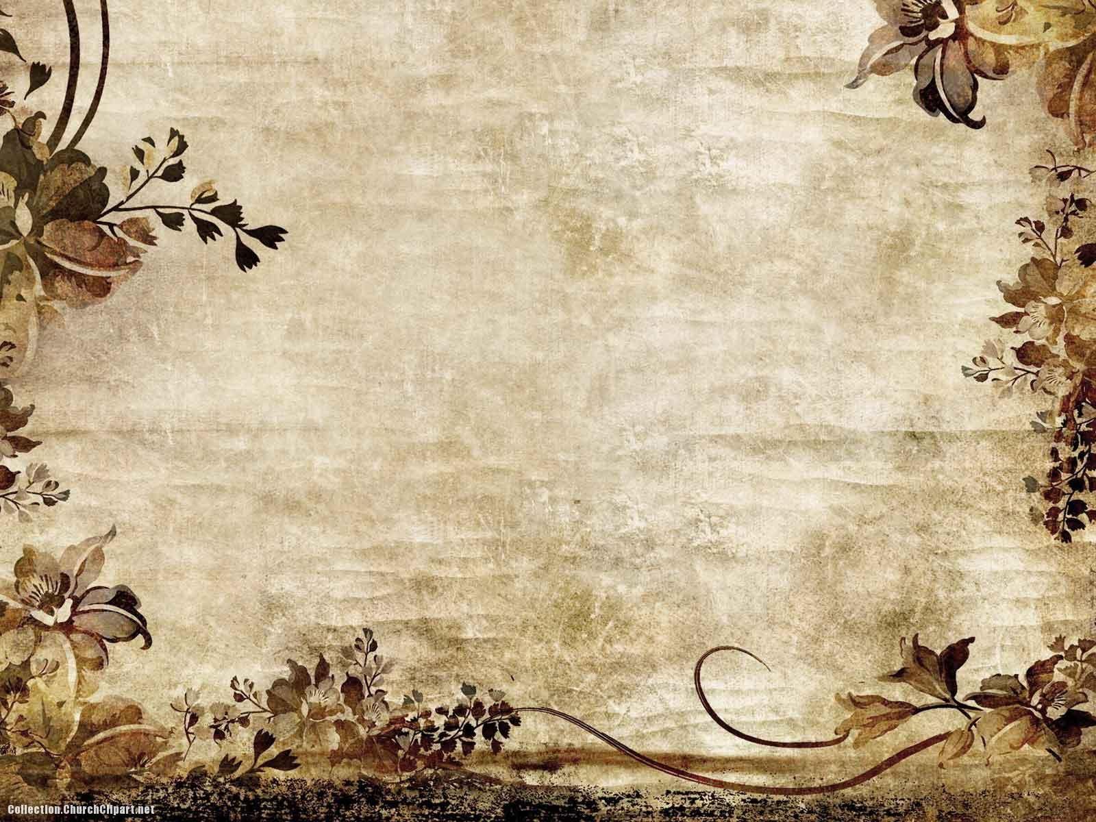Vintage Border Flower Background