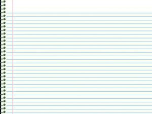 White Paper Notebook Background